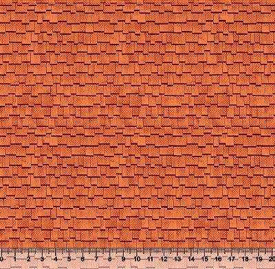 Tecido Tricoline Textura Madeira Telhado