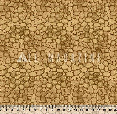 Tecido Tricoline Parede de Pedras
