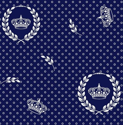 Tecido Tricoline Coroa Real Poá