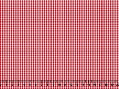 Tecido tricoline Fio Tinto Mini Xadrez Vermelho