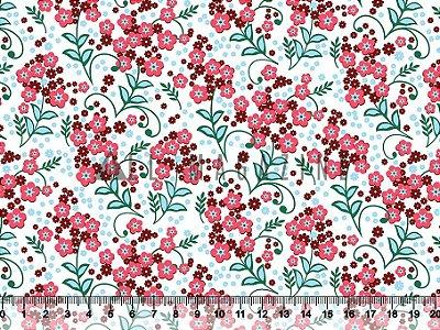 Tecido Tricoline Floral Fofo