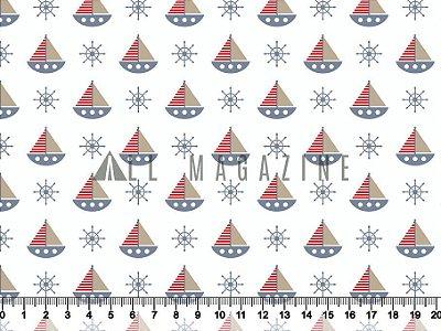 Tecido tricoline Barco Timão