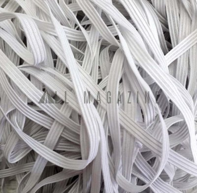 Elástico Branco Chato 6mm - 10m