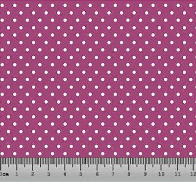 Tecido tricoline Poá Pequeno Rosa