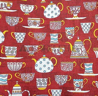 Tecido tricoline Chá Vermelho