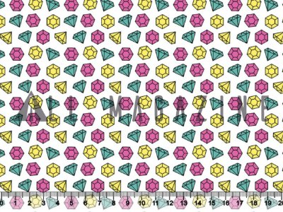 Tecido Tricoline Diamantes Coloridos