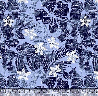 Tecido Tricoline Flores e Folhas