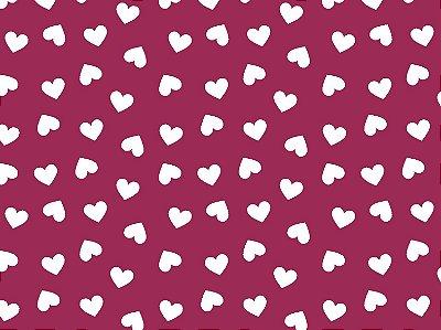 Tecido Tricoline Coração