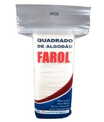 Algodão Hidrófilo Farol Quadrados 70 und