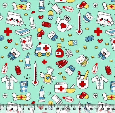 Tecido Tricoline Profissões Médicas