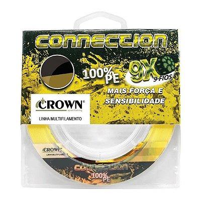 Linha Crown Connection 9X 300m Amarela - 0.43mm 90lb
