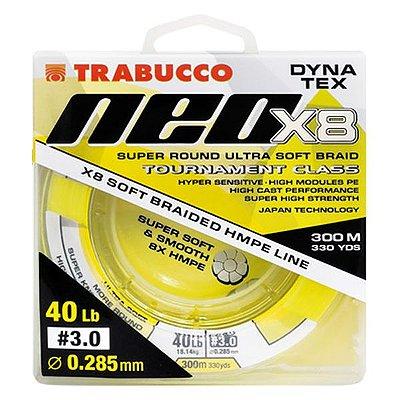 Linha Trabucco Dyna Tex Neo X8 300m 0.18mm 20lb - Amarela