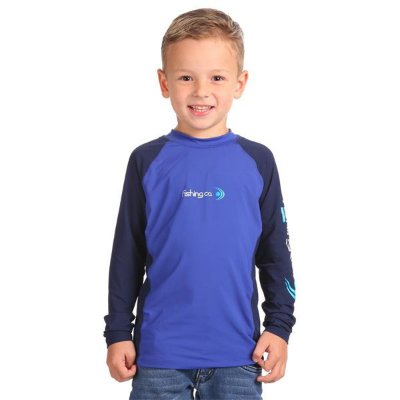 Camiseta Infantil Fishing Co. Recorte Royal/Marinho