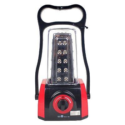 Lampião Recarregável Eco-799 (45 Leds)