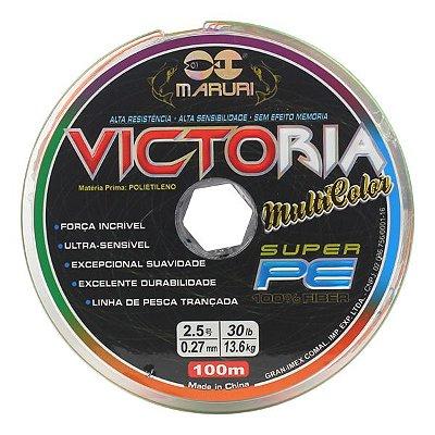 Linha Maruri Victoria 100m 0.40mm 55lb Multicolor