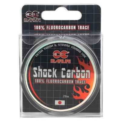 Linha Fluorocarbono Maruri Shock Carbon 20m - 0.45mm