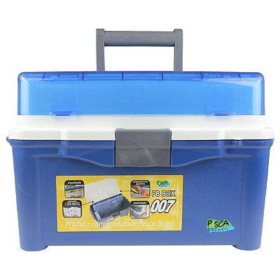 Caixa p/ Pesca PB Box 007 - Azul (+ 3 estojos inclusos)