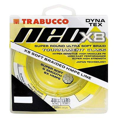 Linha Trabucco Dyna Tex Neo X8 150m 0.18mm 20lb - Amarela