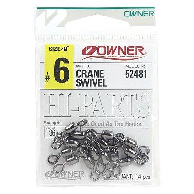 Girador Owner Crane Swivel #06 96lb - 14pçs