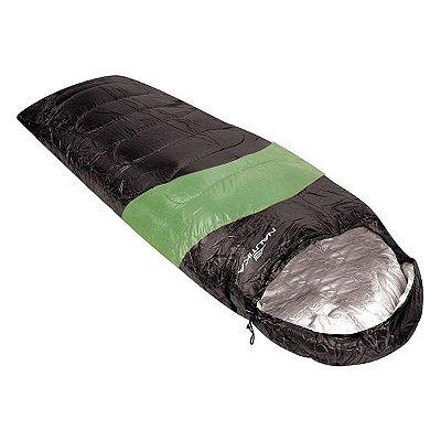Saco de Dormir NTK Viper 5º a 12º - Preto/Verde