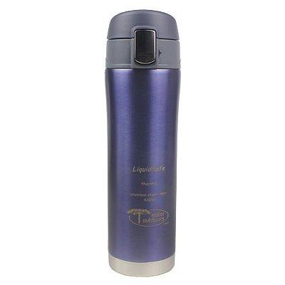 Garrafa Inox LiquidSafe Mug 430ml c/ Tampa Basculante - Azul