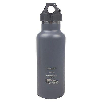 Garrafa Térmica Inox Bpa Free LiquidSafe 500ml - Cinza