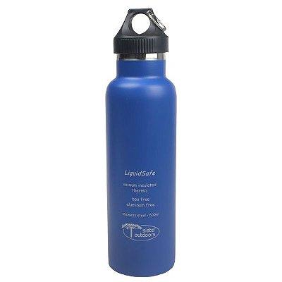Garrafa Térmica Inox Bpa Free LiquidSafe 600ml - Azul