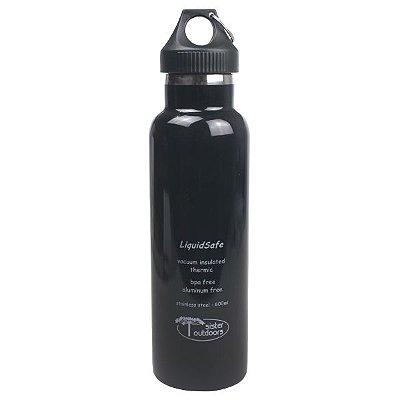 Garrafa Térmica Inox Bpa Free LiquidSafe 600ml - Preto