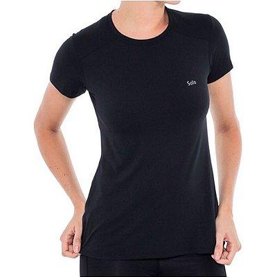 Camiseta Solo Ion UV UPF50 Lady MC - Preto