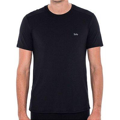 Camiseta Solo Ion UV UPF50 Masc MC - Preta