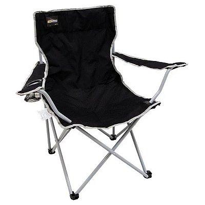 Cadeira Dobrável p/ Camping NTK Alvorada - Preta