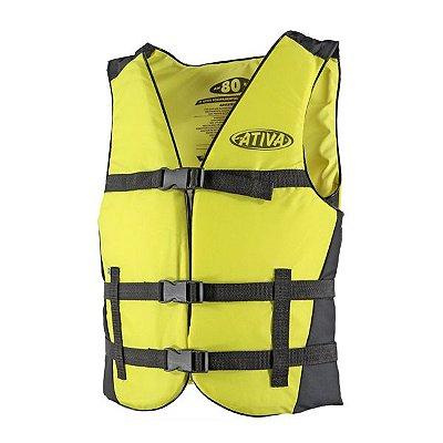 Colete Náutico Ativa Canoa 100kg - Amarelo