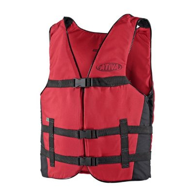 Colete Náutico Ativa Canoa 50kg - Vermelho