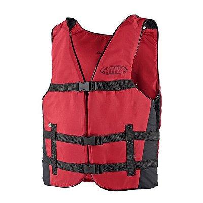 Colete Náutico Ativa Canoa 80kg - Vermelho