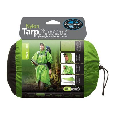 Poncho Impermeável Sea to Summit Nylon Tarp - Verde