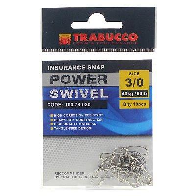Snap Trabucco Reto p/ Artificial #3/0 40lb 90kg - 10pçs