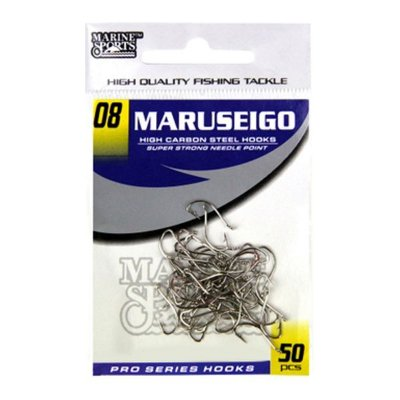 Anzol MS Maruseigo Nickel #08 - 50pçs