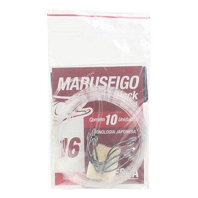 Anzol MX Pesca Maruseigo Black Nickel EN #16 - 10pçs (Fio 0.50mm)