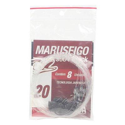 Anzol MX Pesca Maruseigo Black Nickel EN #20 - 8pçs (Fio 0.60mm)