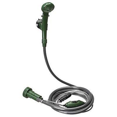 Chuveiro Portátil 12V Guepardo Camping Shower - Verde/Cinza