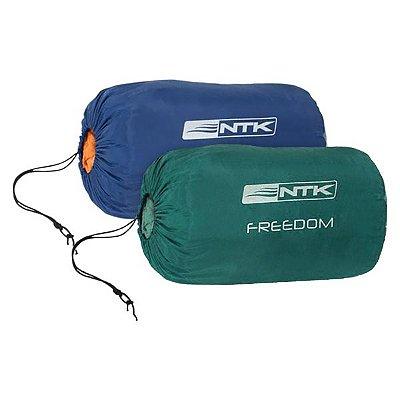 Kit Saco de Dormir NTK Freedom -1°C -3.5°C - 2pçs Azul Cinza