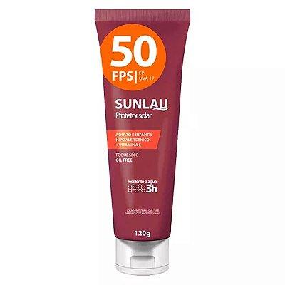 Protetor Solar Sunlau 50 FPS 120g