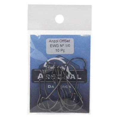 Anzol Arsenal Offset EWG Black Nickel - 10pçs