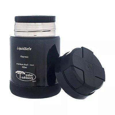 Pote Térmico Inox LiquidSafe 450ml Quente/Frio - Preto