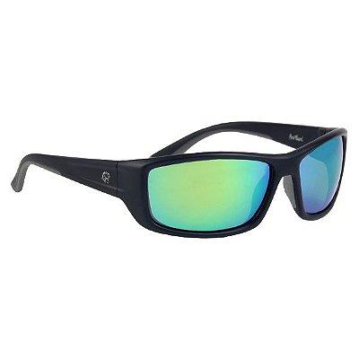 Óculos Polarizado Pro-Tsuri Venon -  Preto Fosco / Lente Green Mirror