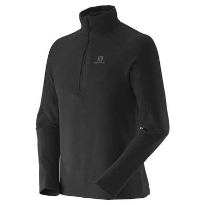 Blusa Fleece Salomon Polar II Masc - Preto