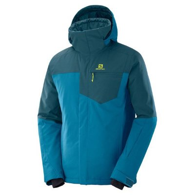 Jaqueta Impermeável Salomon Strike Insulated Masc Azul