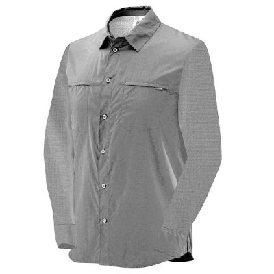 Camisa Salomon Stretch ML Masc Cinza