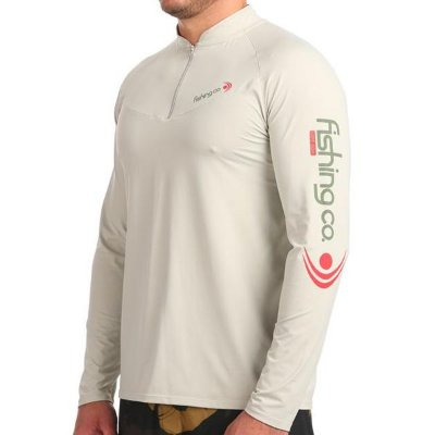 Camiseta Fishing co. Zíper ML UV UPF50 - Atacama
