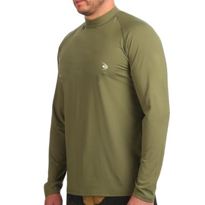 Camiseta Fishing co. UV50+ ML - Verde Militar